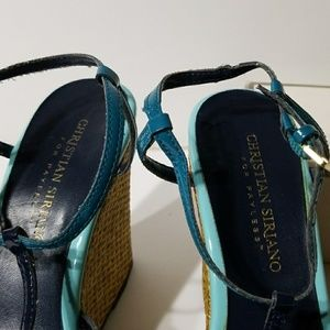 Christian Siriano Shoes - Open toe wedge by Christian Siriano
